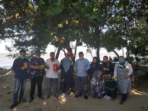 Kegiatan kunjungan auditor LPPOM MUI SU dan Audit halal UMKM terasi di pulau kampai